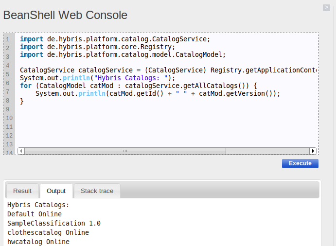 BeanShell Web Console